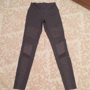 High-waisted gray Alo Yoga leggings